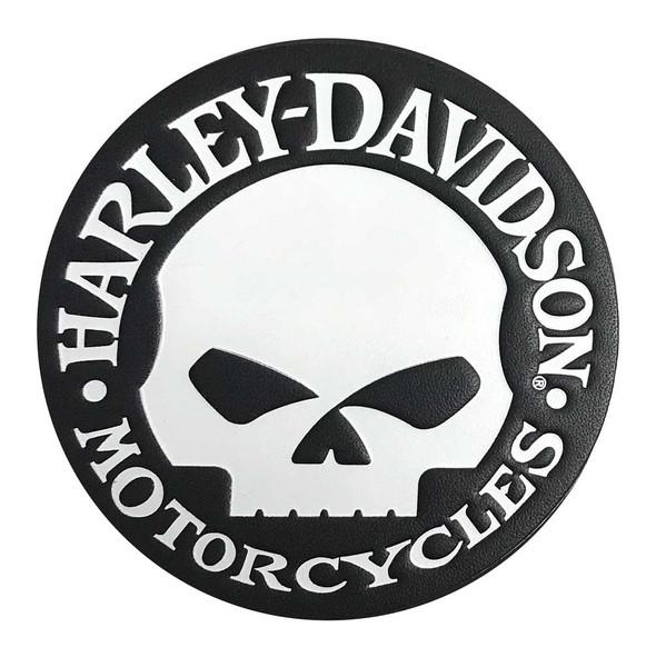 Harley-Davidson Genuine Willie G Skull Leather Emblem Patch, 3.75 in. HDEML1000 - Wisconsin Harley-Davidson