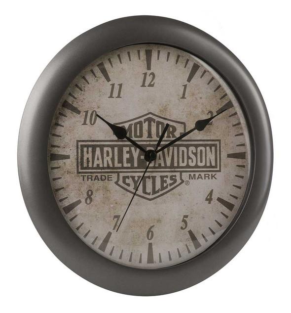 Harley-Davidson Core Trademark Bar & Shield Logo Clock, 11 inch HDX-99105 - Wisconsin Harley-Davidson
