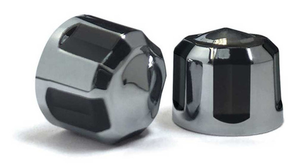 Ciro Diamond Cut Low Crown Bolt Caps Add On Kit - Multiple Sizes & Finishes - Wisconsin Harley-Davidson
