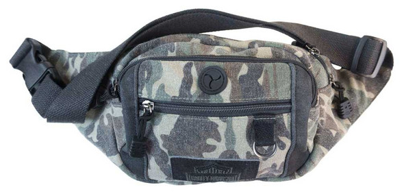 Harley-Davidson Camo Print Canvas Bar & Shield Crossbody/Waistpack MC2786S-CAMO - Wisconsin Harley-Davidson