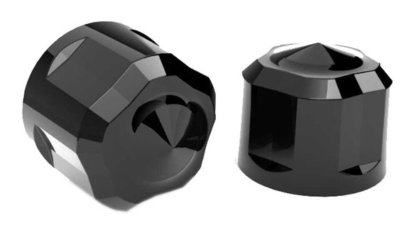 Ciro Diamond Cut Low Crown Bolt Caps Add on Kit - Painted Black Finish - Wisconsin Harley-Davidson