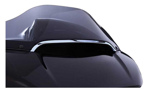 Ciro Center Windshield Trim, Fits H-D Road Glide Models - Chrome or Black Finish - Wisconsin Harley-Davidson