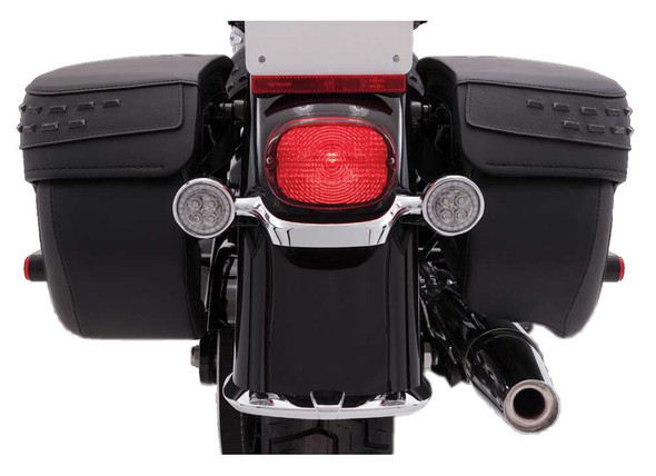 Ciro Fang LED Signal Light Red Inserts, Multi-Fit Item - Chrome or Black - Wisconsin Harley-Davidson
