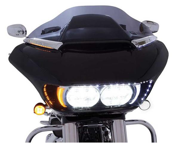 Ciro Horizon LED Lighted Windshield Trim, Fits H-D Road Glide - Chrome or Black - Wisconsin Harley-Davidson