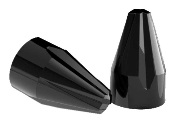 Ciro Fluted Spike Bolt Caps Add on Kit - Multiple Sizes - Painted Black Finish - Wisconsin Harley-Davidson