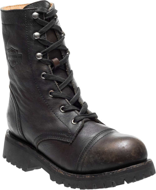 Harley-Davidson Women's Main 7-Inch Brown Leather Motorcycle Boots D80202 - Wisconsin Harley-Davidson