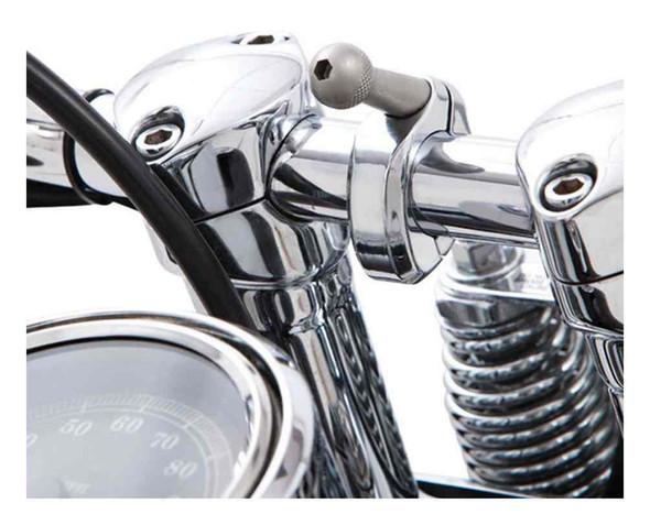 Ciro Accessory 1 - 1/4 in. Round Bar Mount - Chrome or Black Finish 50114-50115 - Wisconsin Harley-Davidson