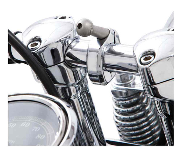 Ciro Accessory 7/8 - 1 in. Round Bar Mount - Chrome or Black Finish 50112-50113 - Wisconsin Harley-Davidson