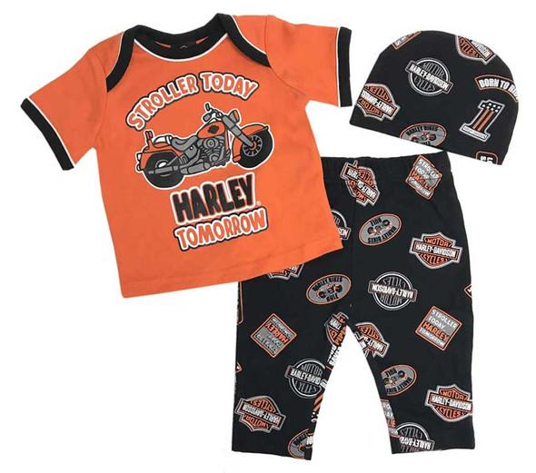 Harley-Davidson Baby Boys' H-D 3 Piece Gift Set w/ Gift Bag 2551801 - Wisconsin Harley-Davidson
