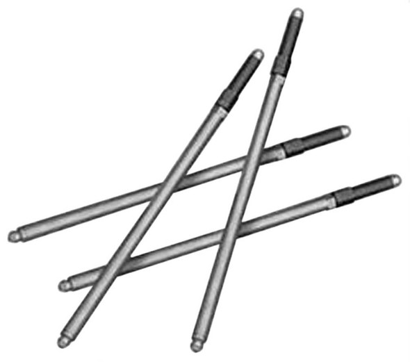 S&S Cycle Standard Adjustable Push Rods for Harley-Davidson, Chrome 93-5033 - Wisconsin Harley-Davidson
