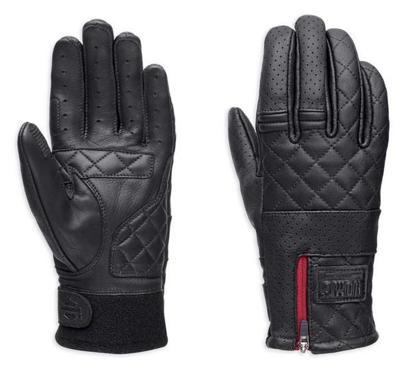Harley-Davidson Women's Excursion Quilted Leather Full-Finger Gloves 98022-18VW - Wisconsin Harley-Davidson