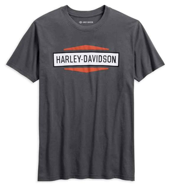 Harley-Davidson Men's Stacked Graphic Slim Fit Short Sleeve Tee 99078-18VM - Wisconsin Harley-Davidson