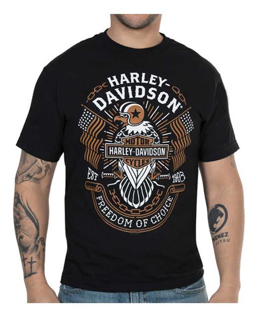 Harley-Davidson Men's Freedom of Choice Short Sleeve Crew T-Shirt - Black - Wisconsin Harley-Davidson