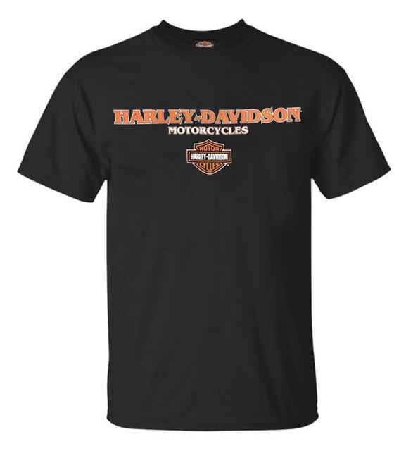 Harley-Davidson Men's Harley Crew Crew-Neck Short Sleeve T-Shirt, Black - Wisconsin Harley-Davidson