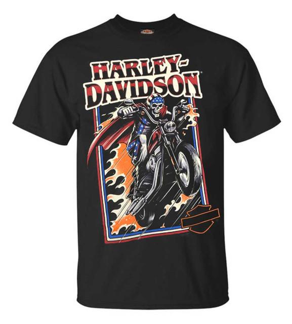 Harley-Davidson Men's Evil Jump Short Sleeve Crew Neck Graphic Shirt – Black - Wisconsin Harley-Davidson