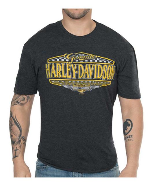 Harley-Davidson Men's High Performance Rival Short Sleeve Crew Shirt – Black - Wisconsin Harley-Davidson