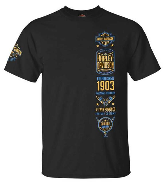 Harley-Davidson Men's Stockpile Crew-Neck Short Sleeve T-Shirt - Black - Wisconsin Harley-Davidson
