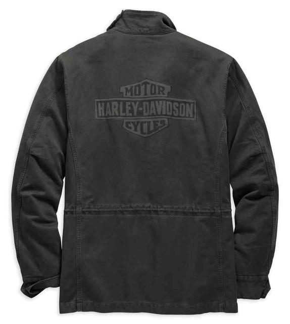 Harley-Davidson Men's Logo Slim Fit Field Jacket, Black Olive 98594-19VM - Wisconsin Harley-Davidson
