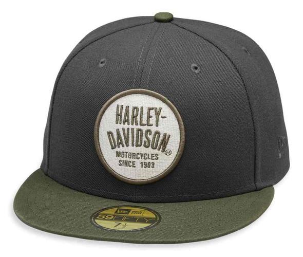 Harley-Davidson Men's Embroidered 59FIFTY Baseball Cap, Gray 99458-19VM - Wisconsin Harley-Davidson