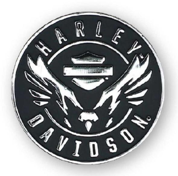 Harley-Davidson 2D Die Cast Velocity Eagle Pin - Antiqued Plated Nickel P326062 - Wisconsin Harley-Davidson
