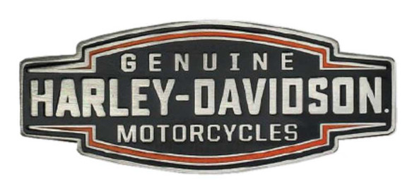 Harley-Davidson 2D Die Cast Velocity Text Pin - Black Plated Nickel P327644 - Wisconsin Harley-Davidson