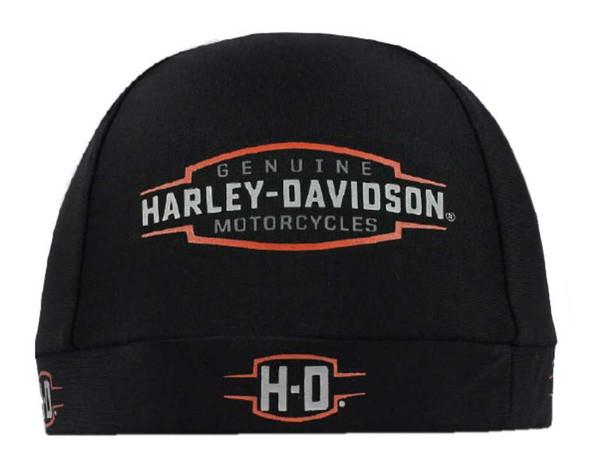 Harley-Davidson Men's Velocity H-D Logo Stretchy Skull Cap, Black SK31430 - Wisconsin Harley-Davidson