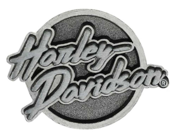 Harley-Davidson 2D Die Cast Edgy Pin - Antiqued & Black Plated Nickel P321063 - Wisconsin Harley-Davidson