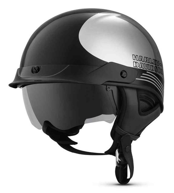 Harley-Davidson Men's Big Twin Ultra-Light Sun Shield J03 Half Helmet 98280-19VX - Wisconsin Harley-Davidson