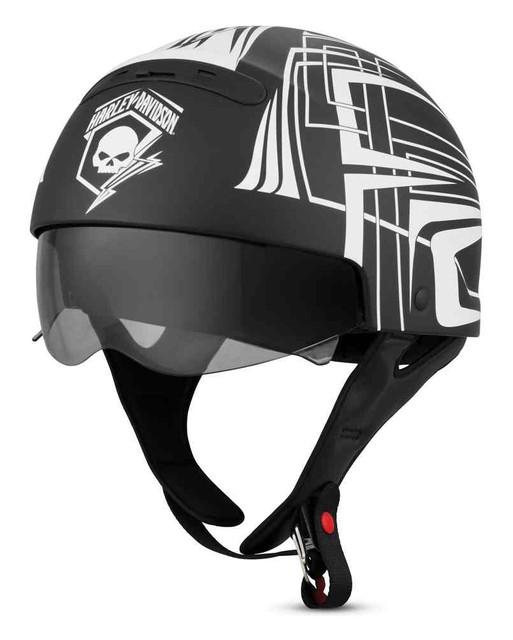 Harley-Davidson Men's Skull Lightning 3-in-1 X04 Helmet, Matte Black 98297-19VX - Wisconsin Harley-Davidson