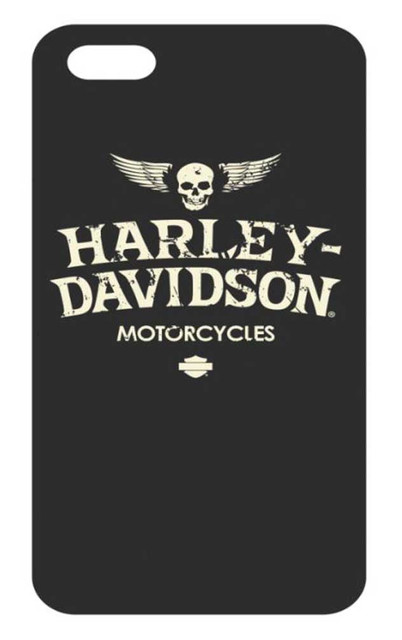 Harley-Davidson Distressed Wings iPhone 8/7 Flexible Phone Shell, Black 7902 - Wisconsin Harley-Davidson