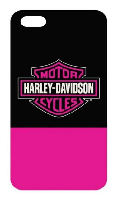 Harley-Davidson Women's B&S Color Block iPhone 7 Phone Shell, Black & Pink 7858 - Wisconsin Harley-Davidson