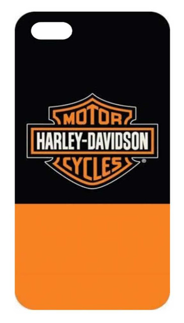 Harley-Davidson Men's B&S Color Block iPhone 7 Phone Shell, Black & Orange 7855 - Wisconsin Harley-Davidson