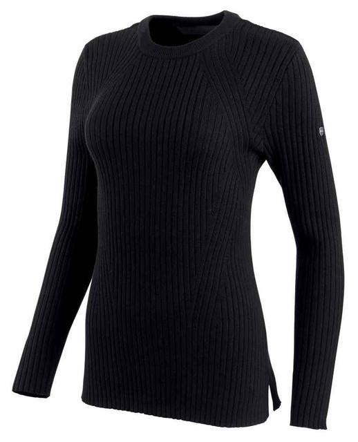 Harley-Davidson Women's Wool Blend Wide Rib-Knit Sweater, Black 96326-19VW - Wisconsin Harley-Davidson