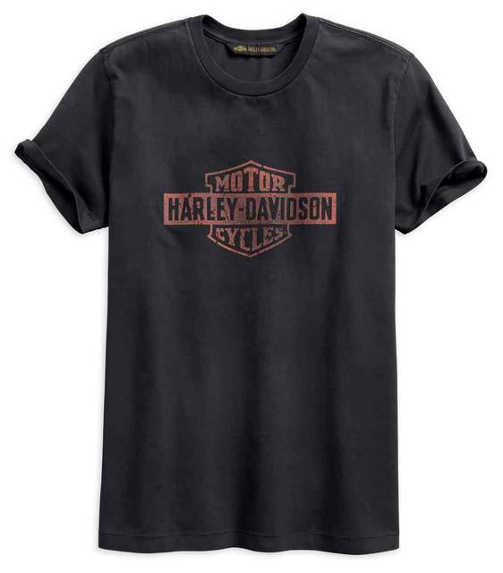 Harley-Davidson Men's Cracked Print Slim Fit Short Sleeve Tee, Gray 96521-19VM - Wisconsin Harley-Davidson