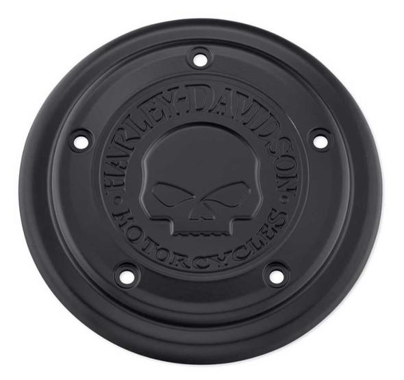 Harley-Davidson Willie G Skull Logo Air Cleaner Trim, Black Finish 29400366 - Wisconsin Harley-Davidson