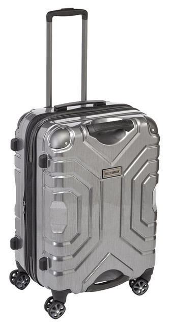 "Harley-Davidson 25"" Polycarbon Luggage w/ Double Shark Wheels 99725 SILVER - Wisconsin Harley-Davidson"