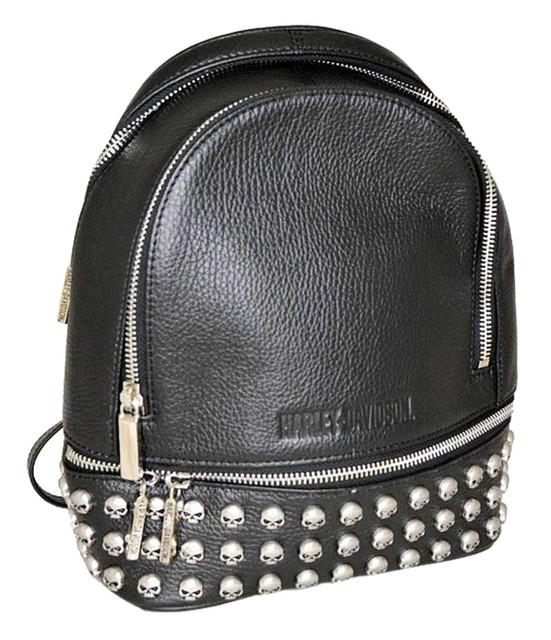 Harley-Davidson Women's Willie G Skull Dual Use Purse Backpack HDWBA11364-BLS - Wisconsin Harley-Davidson