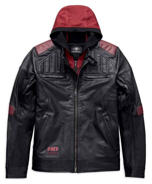 Harley-Davidson Men's Donhill 3-IN-1 Midweight Leather Jacket 97026-19VM - Wisconsin Harley-Davidson