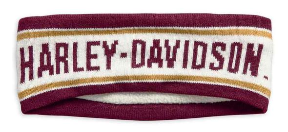 Harley-Davidson Women's Varsity Ear Warmer w/ Fleece Lining 97754-19VW - Wisconsin Harley-Davidson
