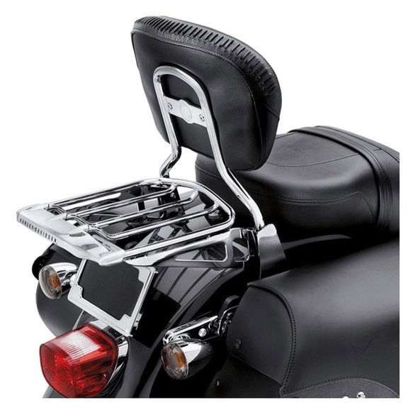 Harley-Davidson Air Wing Two-Up Chrome Luggage Rack, Multi-Fit Item 54292-11 - Wisconsin Harley-Davidson