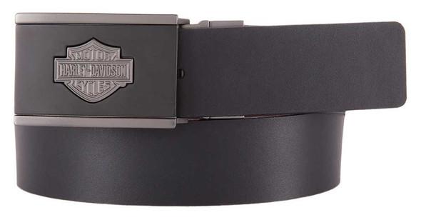Harley-Davidson Men's Reversible Belt, Clamp Buckle w/ Strap HDMBT11581 - Wisconsin Harley-Davidson