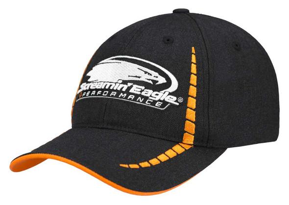 Harley-Davidson Men's Screamin' Eagle Victory Baseball Cap, Black HARLMH0335 - Wisconsin Harley-Davidson