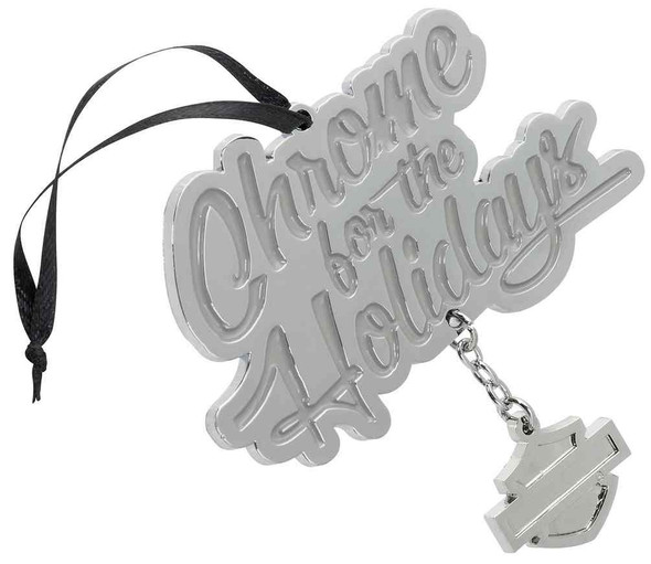 Harley-Davidson Winter Chrome For The Holidays Pewter Ornament HDX-99129 - Wisconsin Harley-Davidson