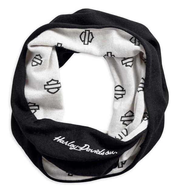 Harley-Davidson Women's Reversible Embroidered H-D Script Knit Scarf 97729-19VW - Wisconsin Harley-Davidson