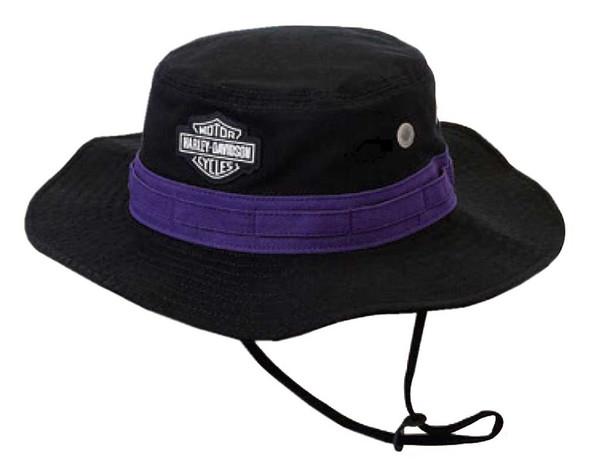 Harley-Davidson Women's Embroidered B&S Boonie Cotton Twill Hat, Black HD-481 - Wisconsin Harley-Davidson
