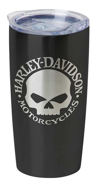 Harley-Davidson Core Willie G Skull Stainless Steel Travel Mug, Black HDX-98618 - Wisconsin Harley-Davidson