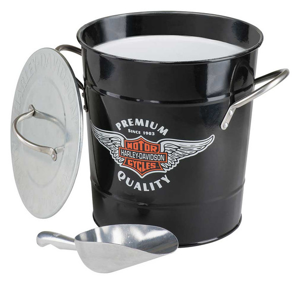 Harley-Davidson Winged Bar & Shield Ice Bucket, 3.75 Quart - Black HDL-18582 - Wisconsin Harley-Davidson