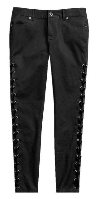 Harley-Davidson Women's Side Laced Stretch Skinny Pants, Black 96498-19VW - Wisconsin Harley-Davidson
