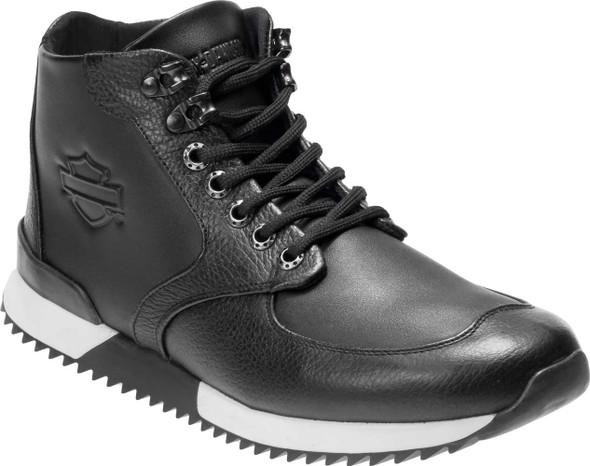 Harley-Davidson Men's Cadden Black Leather Sneakers D93546 - Wisconsin Harley-Davidson