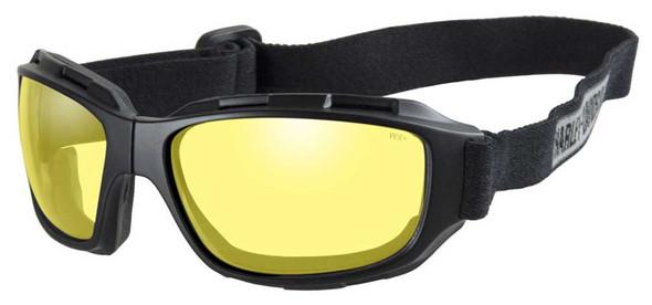 Harley-Davidson Men's Bend Yellow Lens Goggles, Collapsible Black Frames HABEN13 - Wisconsin Harley-Davidson